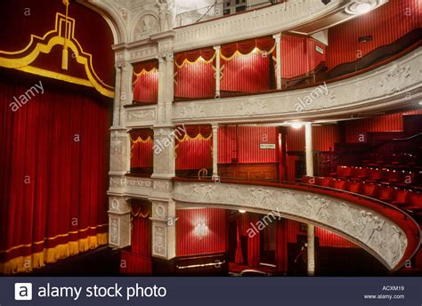 curtain theatre london side view of theatre boxes and stage curtain in the