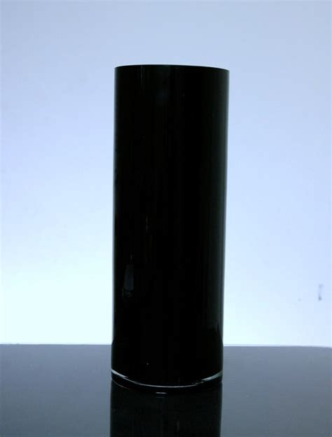 Black And White Vases Cheap by Pc410w Baked Cylinder Glass Vase 4 Quot X 10 Quot 12 P C White Black And White Vases