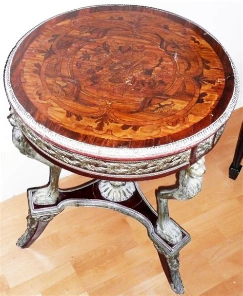 speisesaal high tables marquetry inlaid wood table bronze gold figures