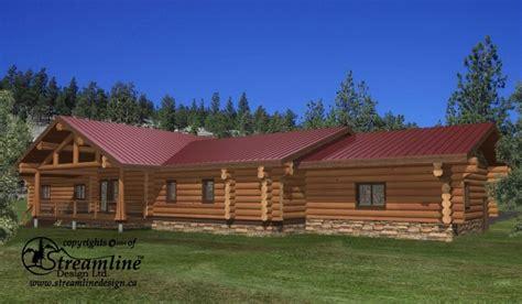 thorsby log home plans 7123sqft streamline design