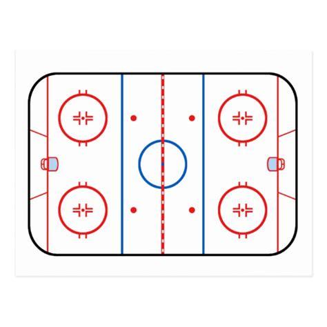 hockey rink layout design ice rink diagram hockey game design postcard zazzle