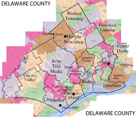 Zip Code Map Delaware County Pa | delaware county zip code map arkansas map