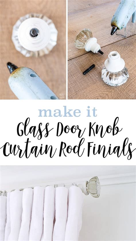 make your own curtain rod finials how to make curtain rod finials using doorknobs in my