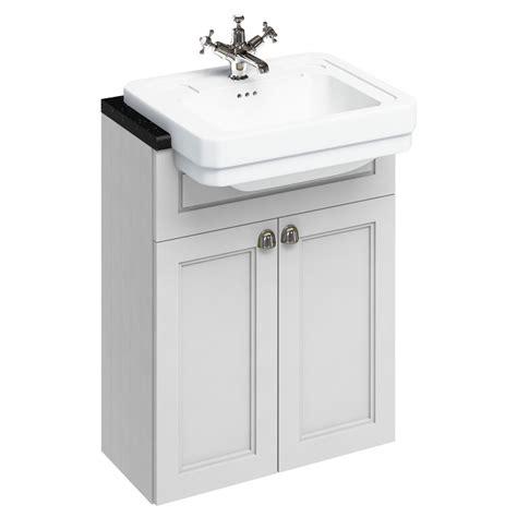 Vanity Units And Basins by Burlington 60 2 Door Vanity Unit Classic Semi Recessed Basin Matt White