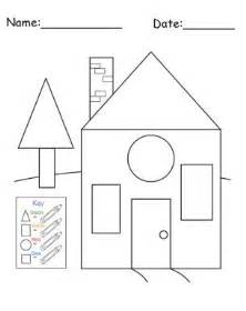 Shape Of House free printable house shapes worksheet i would use this at the