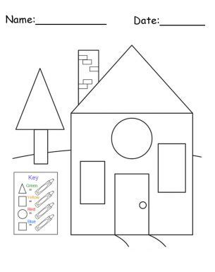 kindergarten activities my house free printable house shapes worksheet i would use this