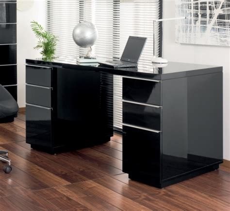 Office Black Desk Office Desk Black Office Desks Tables Dwell