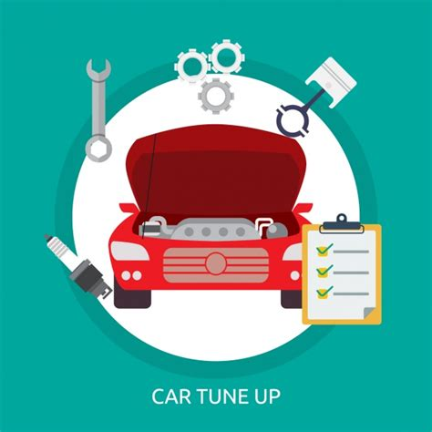 car tune up background design vector free