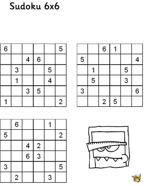 Grille De Sudoku Facile à Imprimer by Sudoku 6x6 N 176 2 Pour Enfants 224 Imprimer