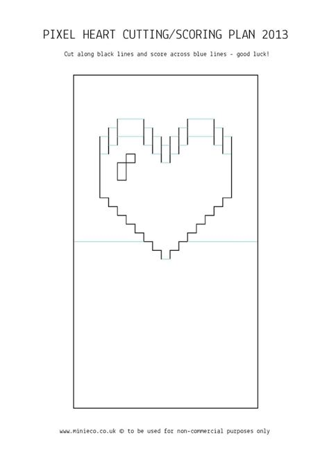 pixelated pop up card template pdf 17 best images about fungifts on valentines