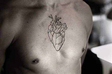 geometric heart tattoo chest 53 stylish ideas hommes malaysia s s