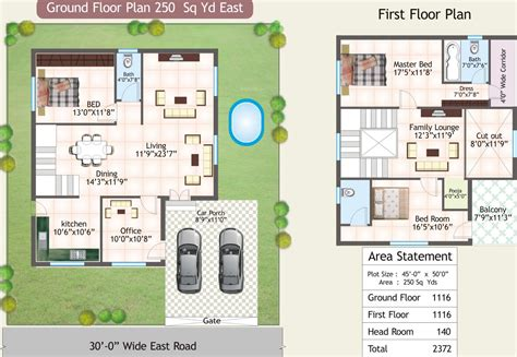 green floor plans 2372 sq ft 3 bhk 3t villa for sale in srk green avenues