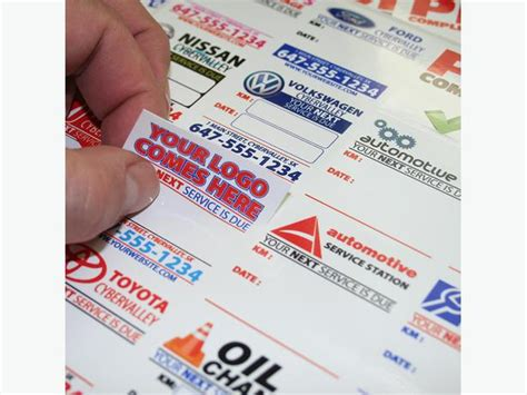 label design rates 1000 custom full color oil change stickers static cling