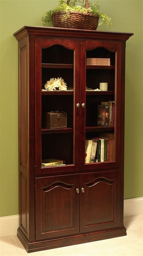 Traditional Bookcase W Doors 455 T3648d 121 Office Traditional Bookshelves
