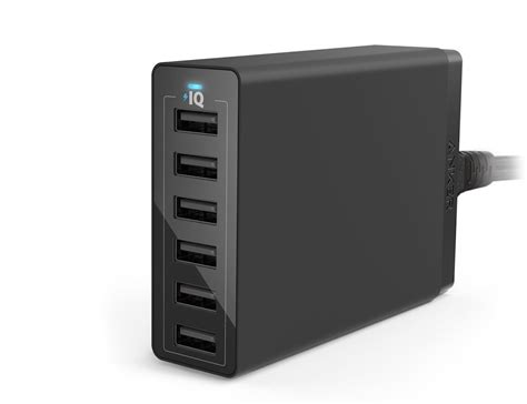 family sized desktop 6 port usb charger by anker 187 gadget flow