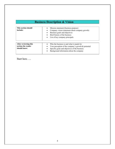 small business strategy templates new business plan