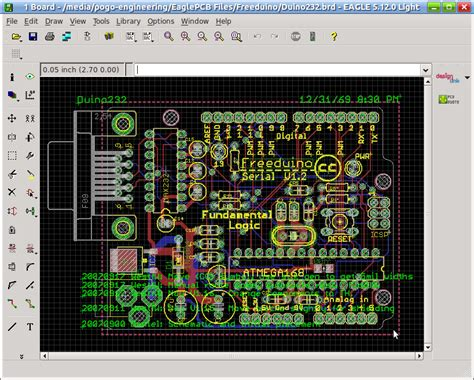 Layout Design Software screen shot of eagle cad