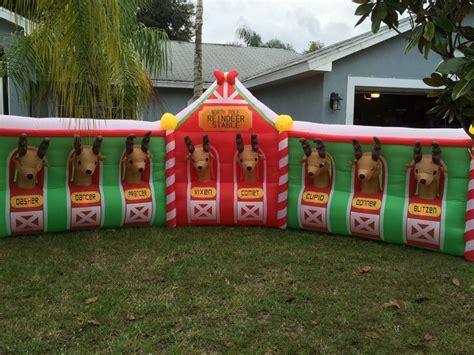 santa reindeer stable inflatable 26 best images about santa s reindeer stable bought on stables and yards