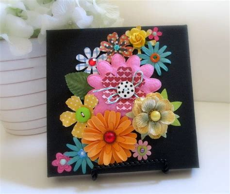 Canvas Art Altered Canvas Garden Flowers Paper Paper Flower Garden