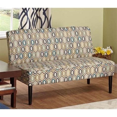 armless settee bench modern classic multi color upholstery armless loveseat
