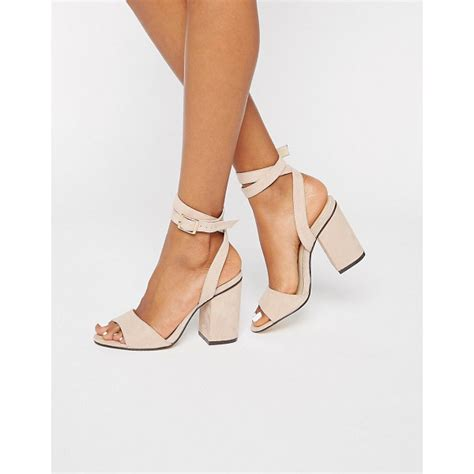 Two Block Heel Sandal - rebel 2 part block heel sandals nudevotion