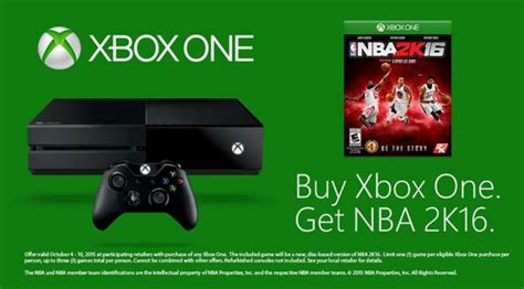 Xbox One 2k16 nba 2k16 xbox one bundle announced rectify gaming