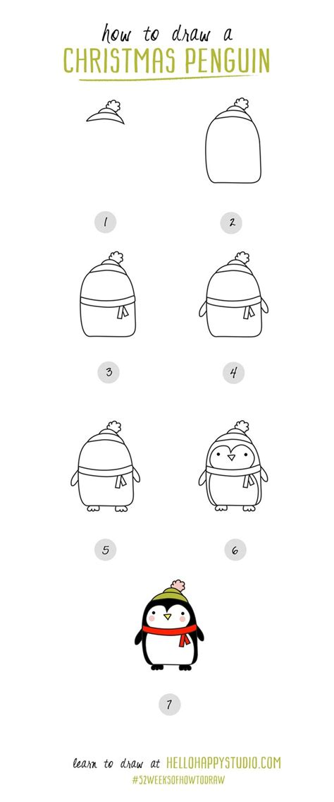 christmas drawing step by step and gift to gift cartoon and easy things to draw step by step drawings nocturnal