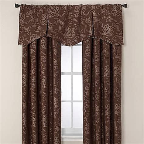 jacobean drapes jacobean pleated window valance www bedbathandbeyond com