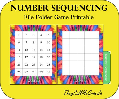 number pattern games to print sequencing file folder games button sequencing number