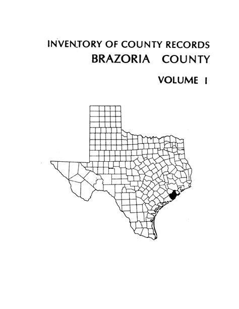 Brazoria County Court Records Inventory Of County Records Brazoria County Courthouse