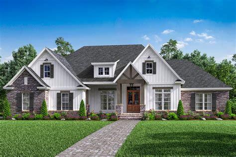 house plans new open concept 4 bed craftsman home plan with bonus garage 51778hz architectural designs