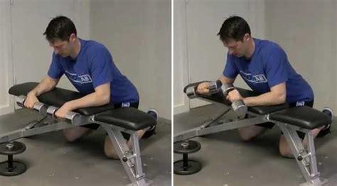 reverse wrist curl over bench reverse dumbbell wrist curl bodybuilding wizard