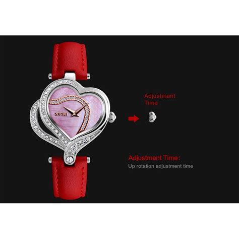 Jam Tangan Wanita Aesop White Fashion skmei jam tangan fashion wanita 9161 white
