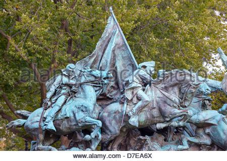 Washington Dc Civil War Cavalry Statue Near The Ulysses S Grant Memorial In Front O Cavalry Charge Ulysses Us Grant Equestrian Statue Civil War Memorial Stock Photo