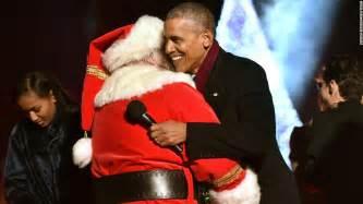 obama lights national christmas tree for the final time