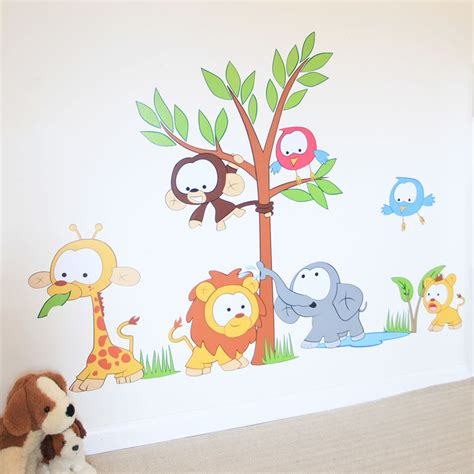 jungle stickers for nursery walls wall decor baby wall stickers nursery jungle