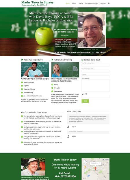 maths tutor surrey web development