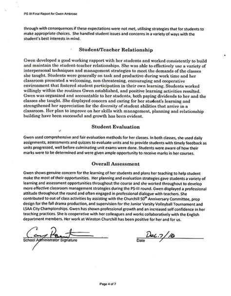Recommendation Letter For Gifted Student Practicum Results Gwen Ambrose S Portfolio
