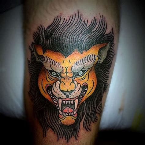 traditional lion tattoo 30 traditional designs for retro big cat