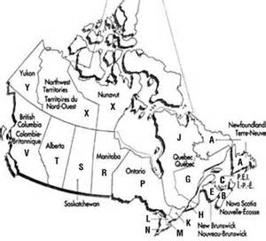 canada post postal codes map the country connection magazine circulation