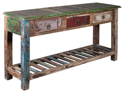 reclaimed wood sofa table coast to coast furniture reclaimed wood sofa table 3