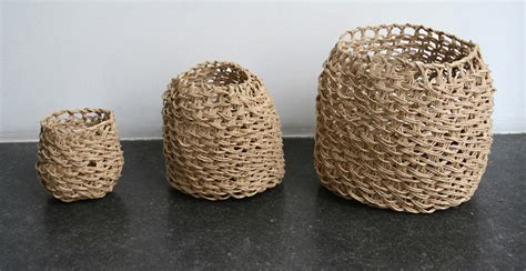 Paper Macrame - recycled paper macrame by corinne muller and piotr oleszkowicz
