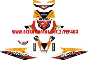 Decal Stiker Honda Absolute Revo Tahun 2009 cutting sticker modifikasi motor striping moto striping motor honda beat repsol