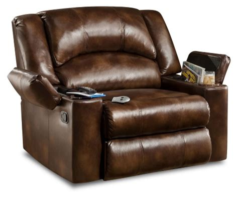 sale simmons encore bonded leather oversized downtime lounger cheap recliners