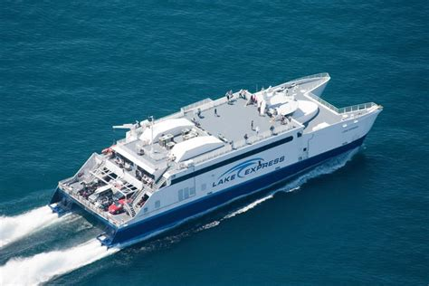ferry boat from wisconsin to michigan lake express ferry opens season from milwaukee to muskegon