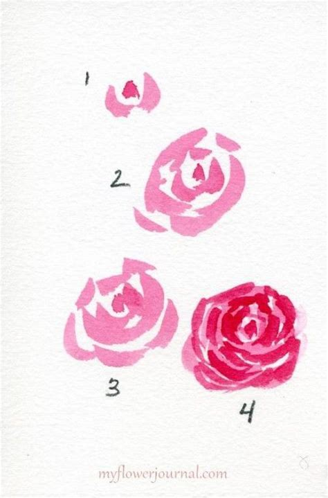 watercolor heart tutorial watercolor hearts and roses google search flowers and