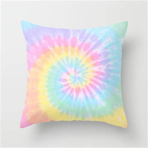 Best Home Decor Stores tie dye love throw pillow by pink berry from society6