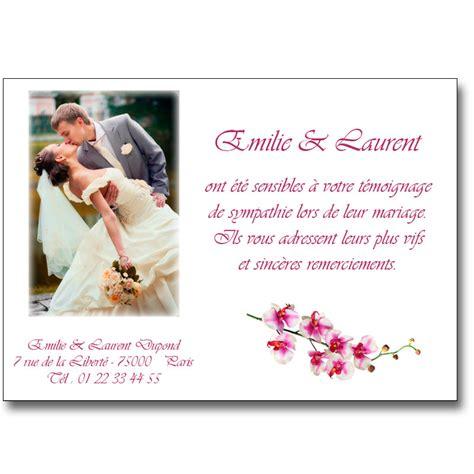Exemple De Lettre De Remerciement Mariage Modele Faire Part Remerciement Mariage