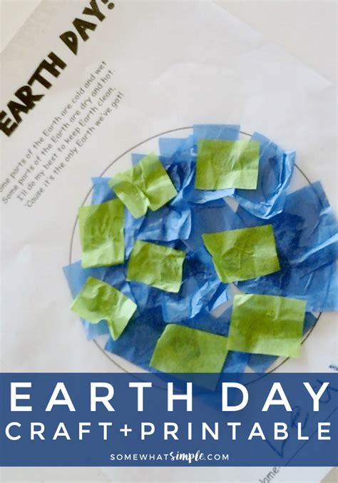 day easy crafts earth day crafts printable project and poem somewhat