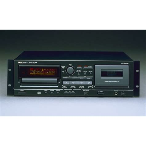 Cd Player With Cassette Deck by Tascam Cd 500 Cd Player Cassette Recorder Combination